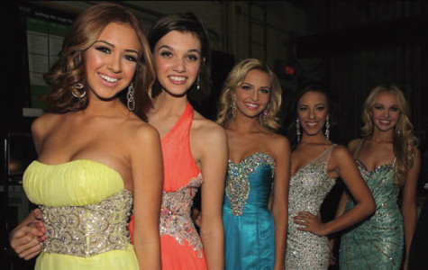 Two students participate in the Miss California Teen Pageant
