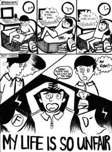 Standalone Cartoon: The Regular Life of a Student
