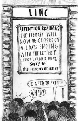 Standalone Cartoon: Library Hours