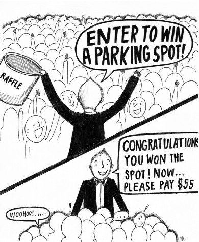 Standalone Cartoon: Parking Spot