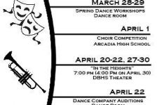 March and April upcoming events