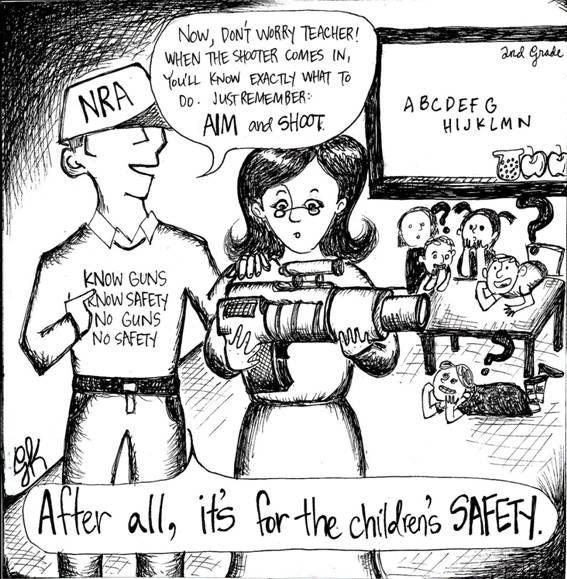 Standalone Cartoon: Gun Safety in Classrooms