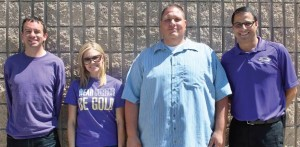 TEACHER FEATURE - William Whelon, Jenna Maine, Anthony Gogos, and Richard Gonzales (left to right) pose for the camera.