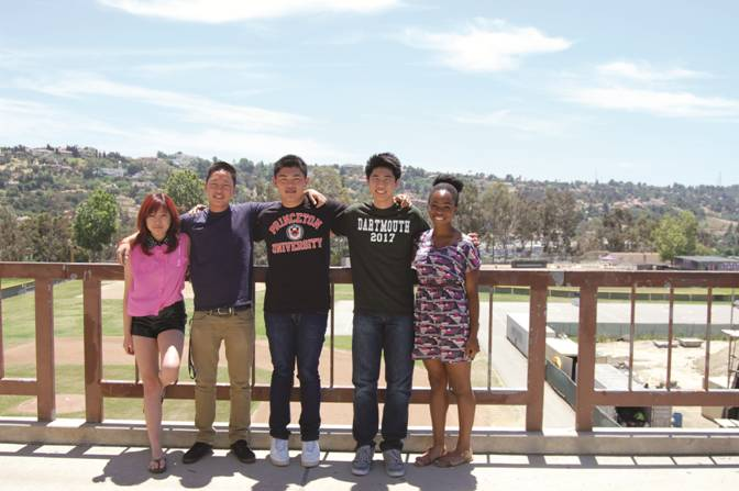 COLLEGE BOUND - Seniors Sarah Cho, Chris Park, Jason Chen, Hoi Wong, Udodiri Okwandu (left to right) are five of the seven Ivy League students.