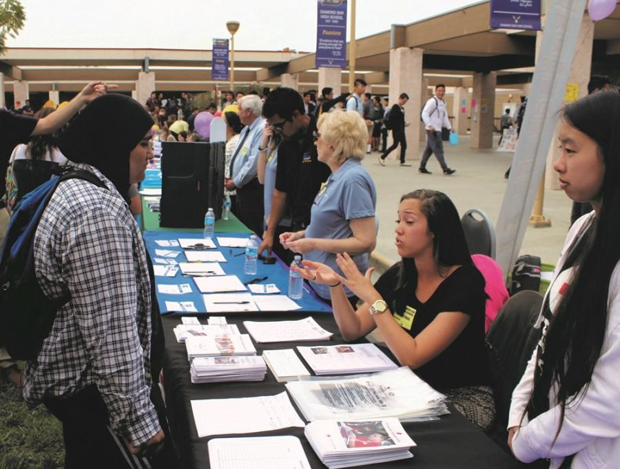 Brahmas gathered in the Upper Quad recently on  March 11 to meet with dozens of representatives from different fields of work, including people from a talent agency, a local dentistry, and even international organizations like the Red Cross.