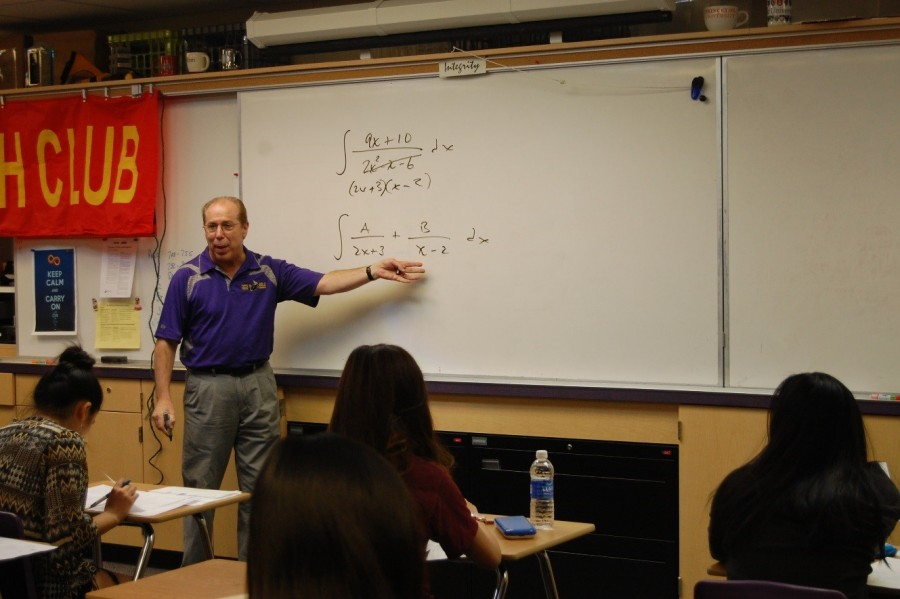 Alcosser instructs his Calculus BC class for one of his final lessons.