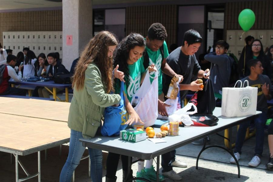 APES students called attention to local environmental issues and presented their projects in the Lower Quad.