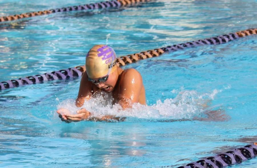 Brahma swimmer tops school records