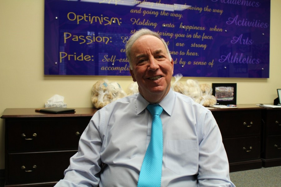 DBHS's Interim Principal Dennis R. Paul, the former principal before Real, serves temporarily as the search for the next principal continues.
