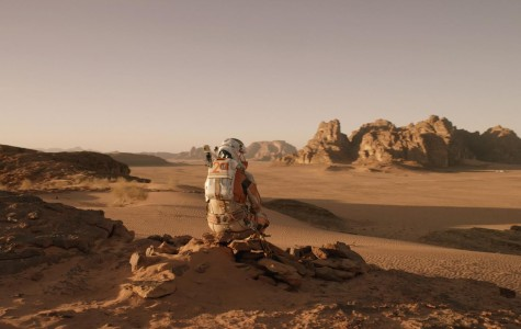 Watney (Matt Damon,) though alone, marvels at the beauty of the planet he is stranded on.