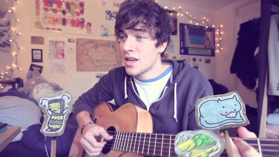"KickThe Pj sings his original song, 'Tree Hugger"" in one of his many videos."