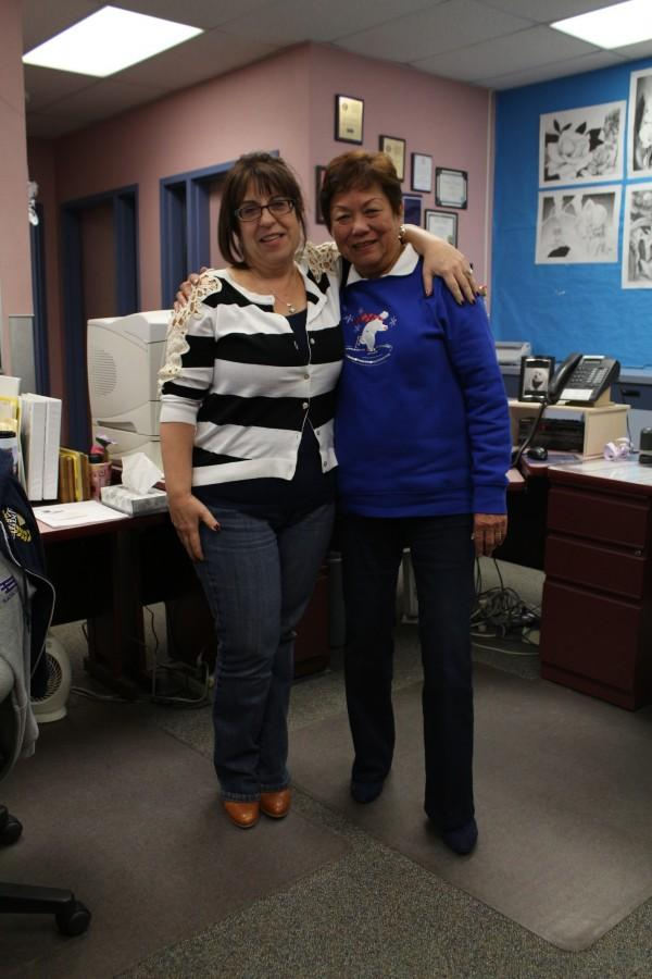 Joanne Taylor (left) and Elsie Garcia (right) work to improve student's high school experiences by organizing events and issuing minor infractions.