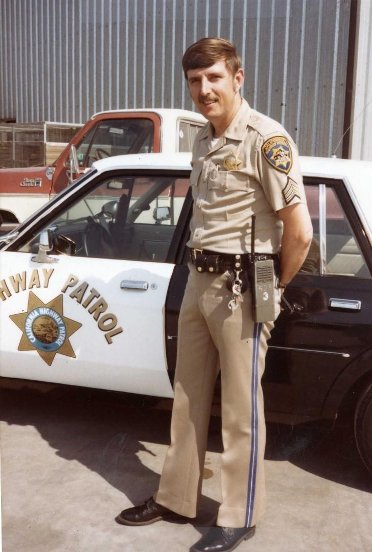 DBHS Administration of Justice teacher Jim Salyer served in the Vietnam War and afterwards as a California Highway Patrol officer, starting from 1971.