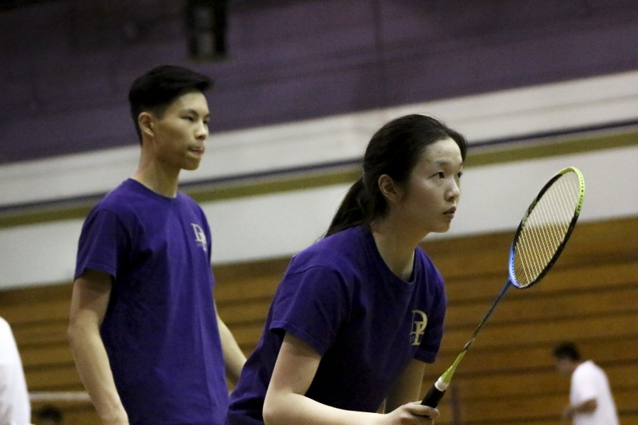 Seniors+Miriam+Sun+and+Brenton+Hwee+play+in+mixed+doubles+during+a+win+over+Redlands+East+Valley.