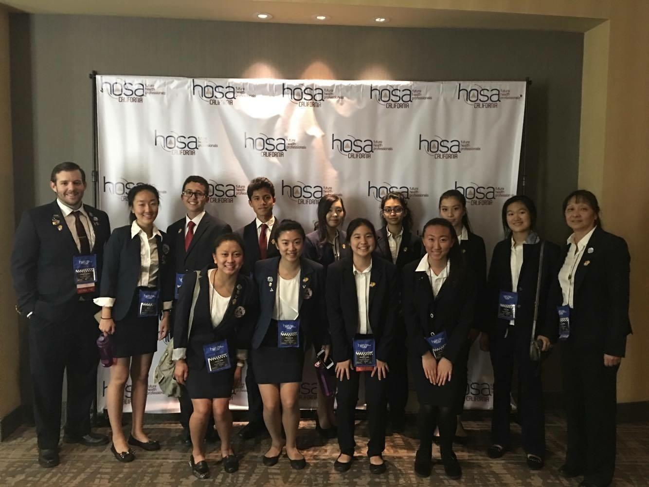 Members of HOSA competed at the State Leadership Conference at the Merit Hotel at Anaheim this past weekend.
