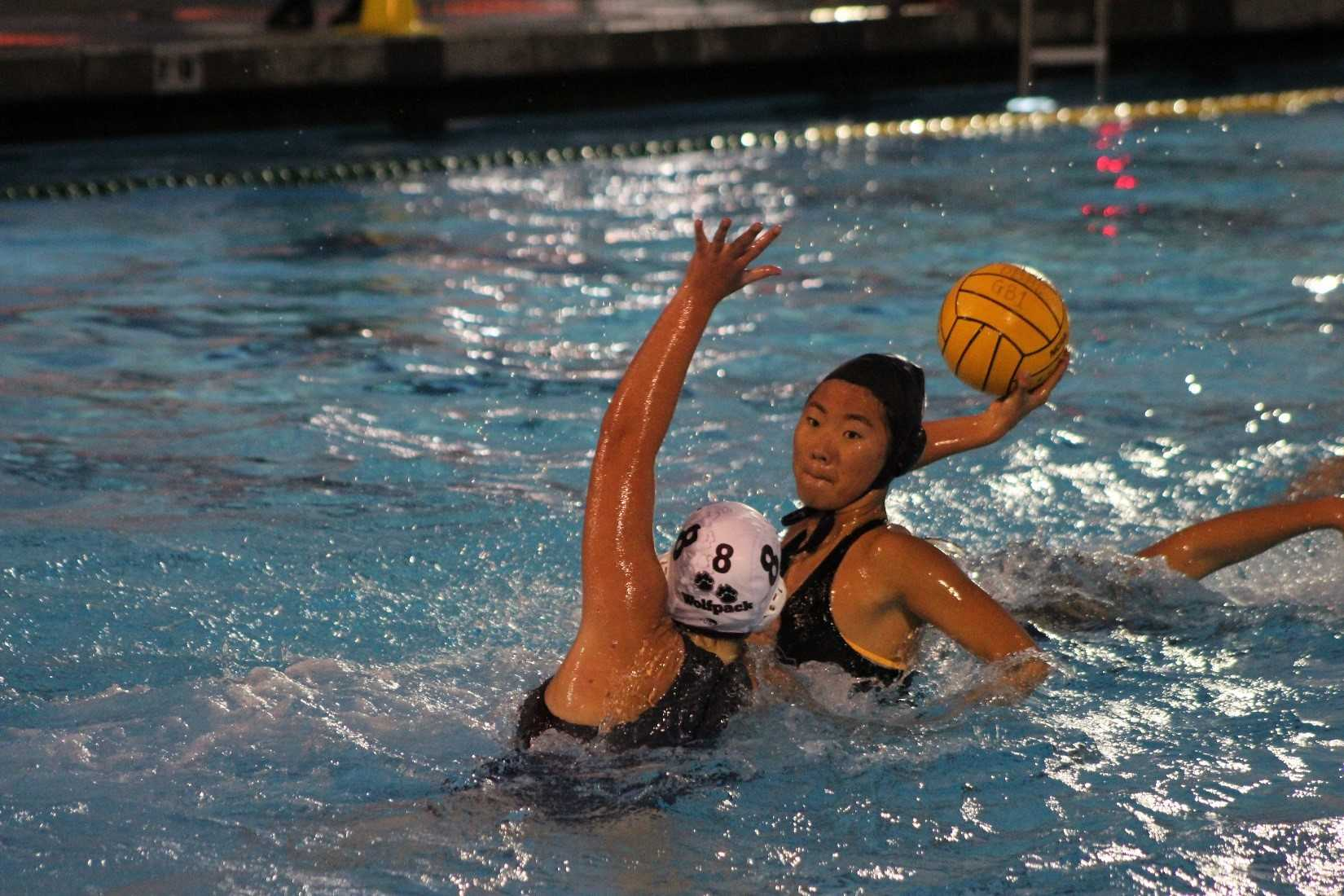 Junior Ashley Yoo attempts to score in a match against Claremont.