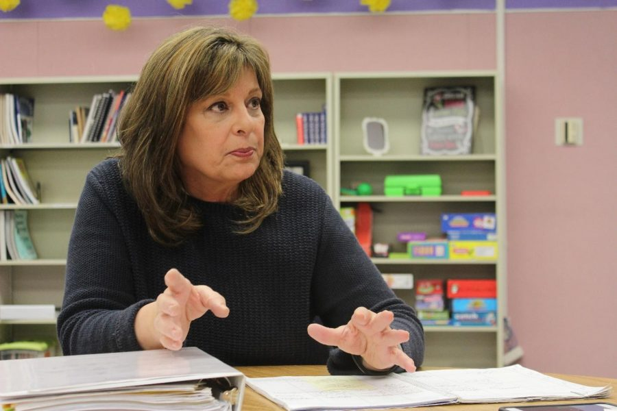 DBHS speech therapist Mary Hamilton chose to come out of retirement two years ago in order to help high school students who have Autism Spectrum Disorder with their language, communication and social skills.