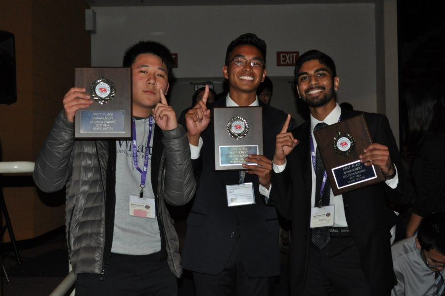 Jefferson Chang, Neil Tengbumroong and Vinay Bhupatiraju placed first in their events at the Inland Section Conference.