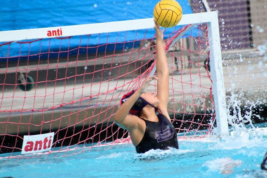 Junior Tatianna Cava blocks a shot against the Bonita Bearcats.