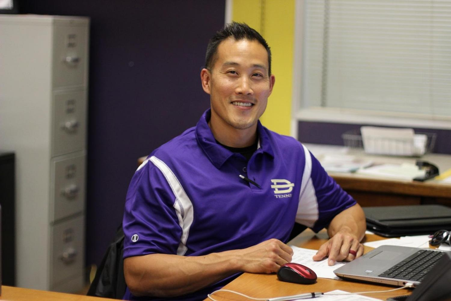 Athletic Director Albert Lim was on the 1996 CIF championship football team.