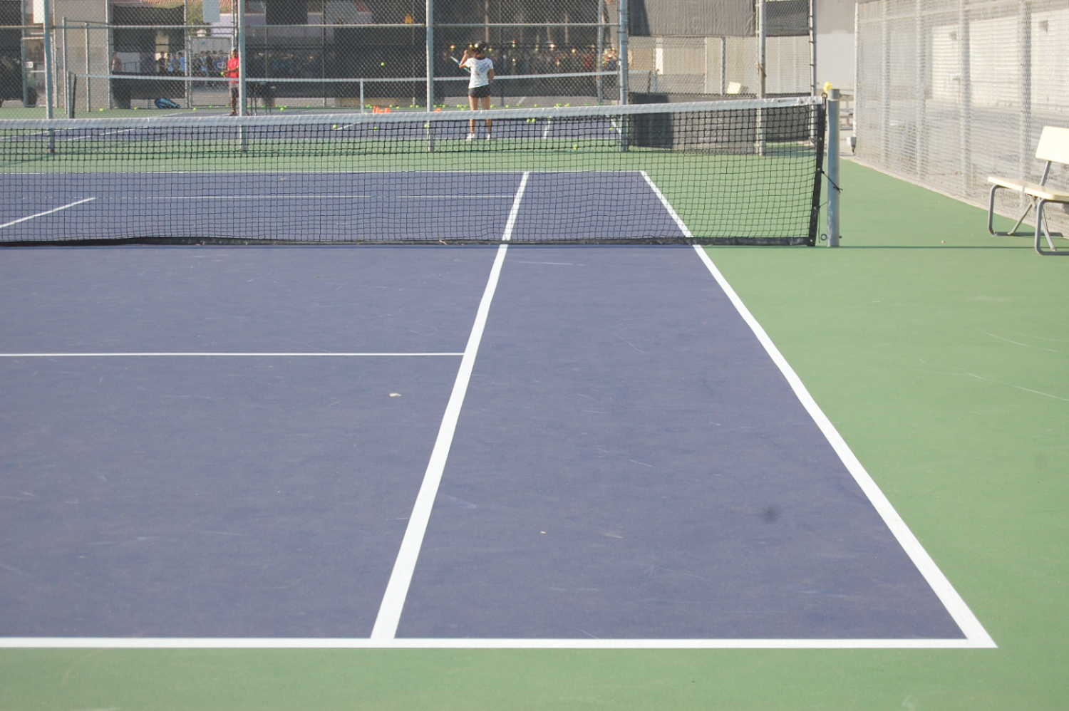 Tennis was not affected by the court renovations finished in the summer.