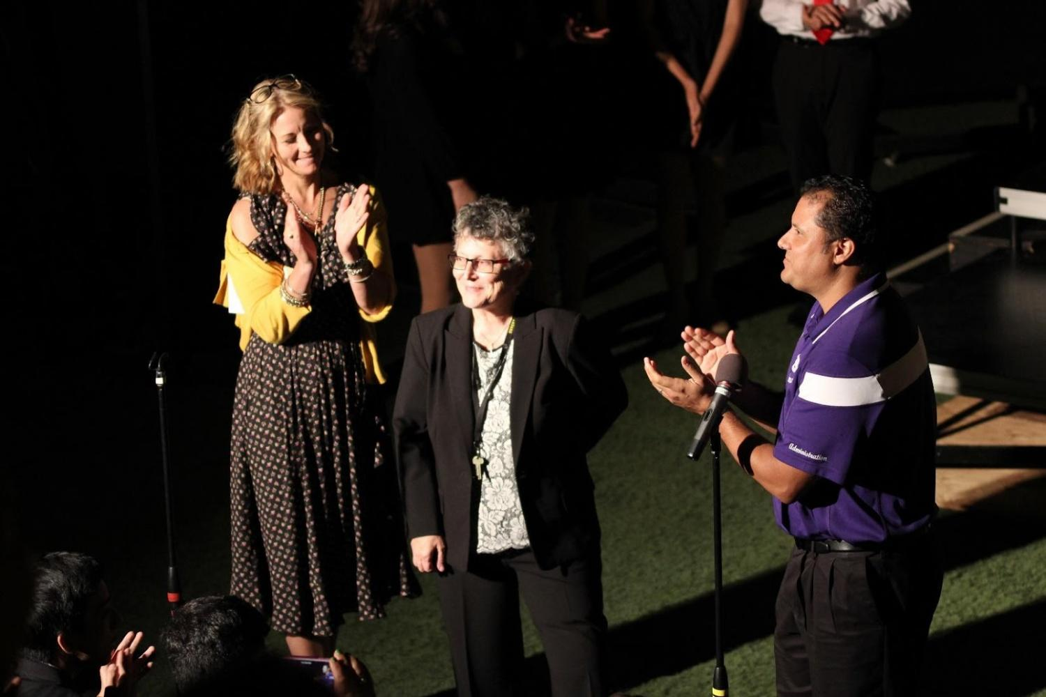 Choir teacher Patty Breitag was celebrated at her final concert last Thursday before she entered retirement on Friday.