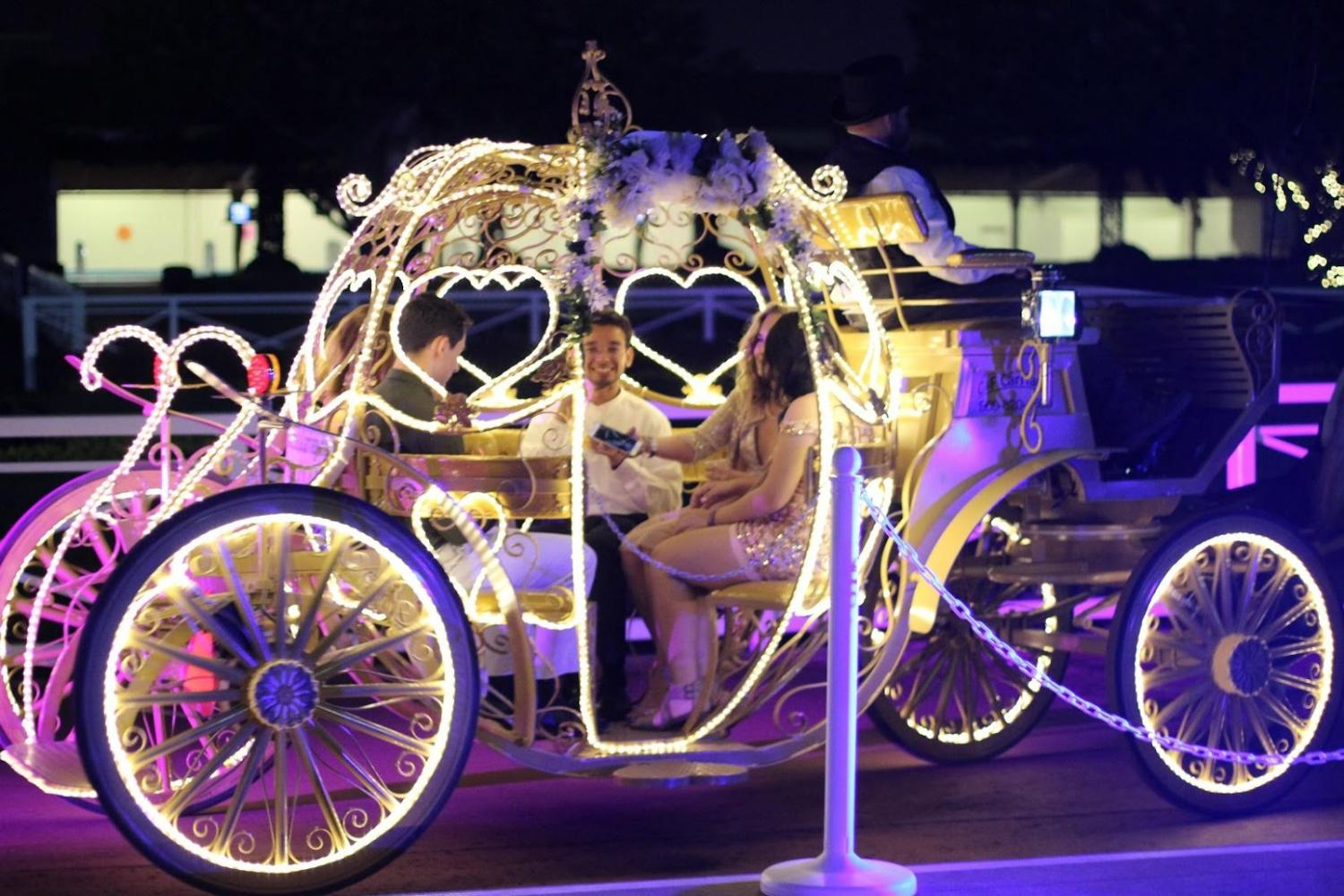 This year's homecoming offered carriage rides as its main attraction.
