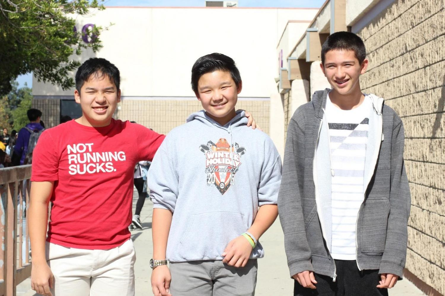 Junior Matthew Ho, sophomore Nolton Burns and freshman Aidan Yim all played in the same recreational program before joining Bishop Amat's team.