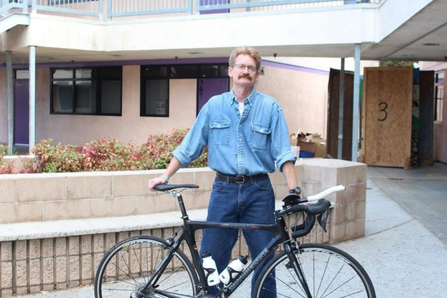 Biology teacher Eric Sorensen bikes to school every day, and often participates in triathlons and local competitions and tournaments.