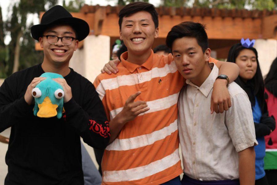 Juniors Perry Wang, Royce Park, Woojin Jeong