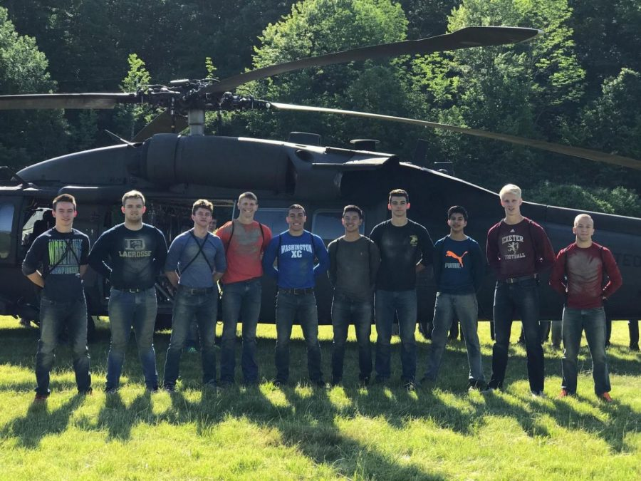 Christian Park (fifth from right) along with Cameron Belden and Winnie Houng attended military camps over the past summer at West Point and the Air Force.