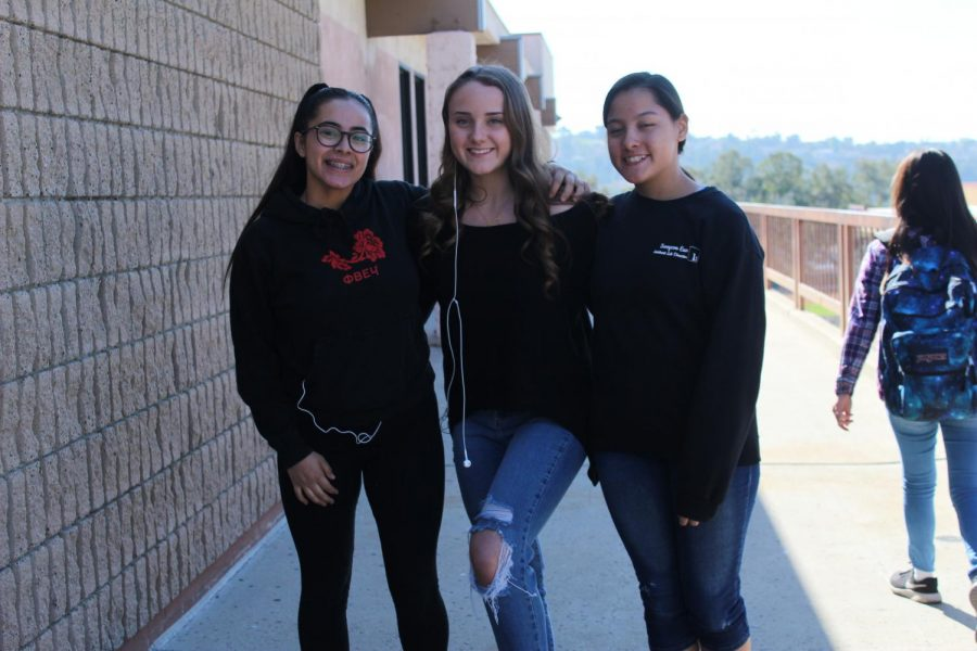 Pictured from right to left are Claudia Gomez, Delany Griffith and Su Eun.