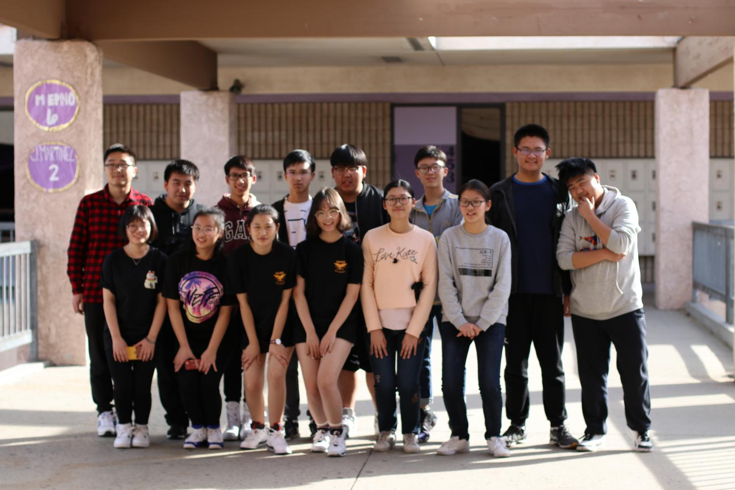 Students from Shanghai and Guizhou visited DBHS classrooms for a a look at education in American schools.