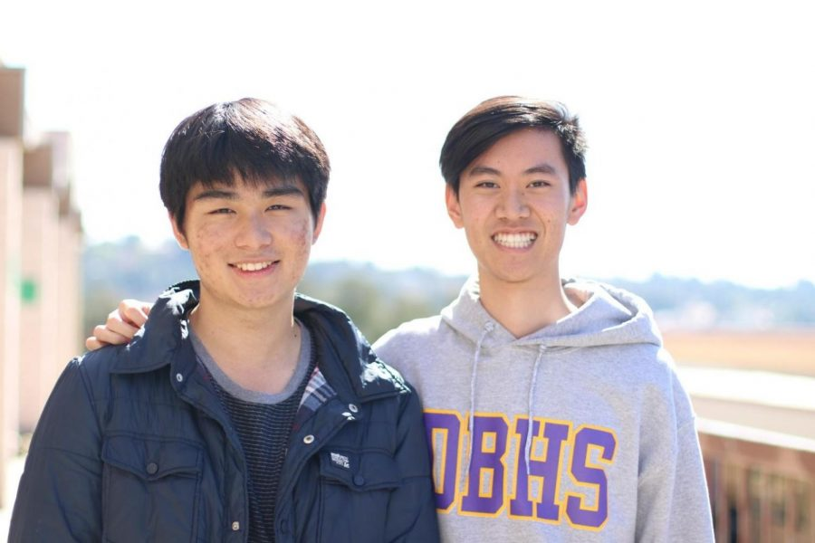 Seniors Collin Satawidinata, left, and Shaun Chen are among the six students on the League of Legends team who won scholarships in a competition.