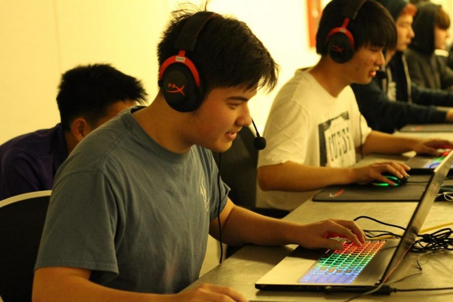 Senior Brandon Samoylenko competes in an eSports event on campus.