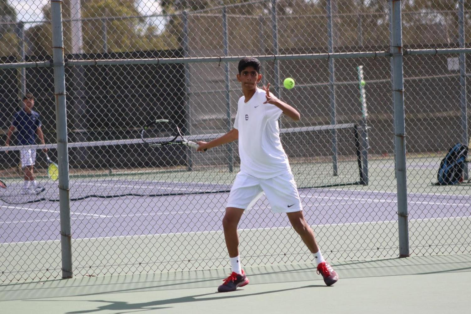 Sophomore Adarsh Belliganud is one of two returning singles players.