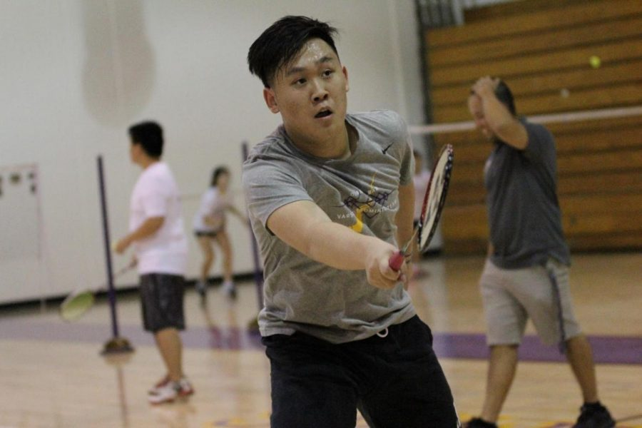 Senior Hanson Gao is one of the top mixed doubles players on the team.