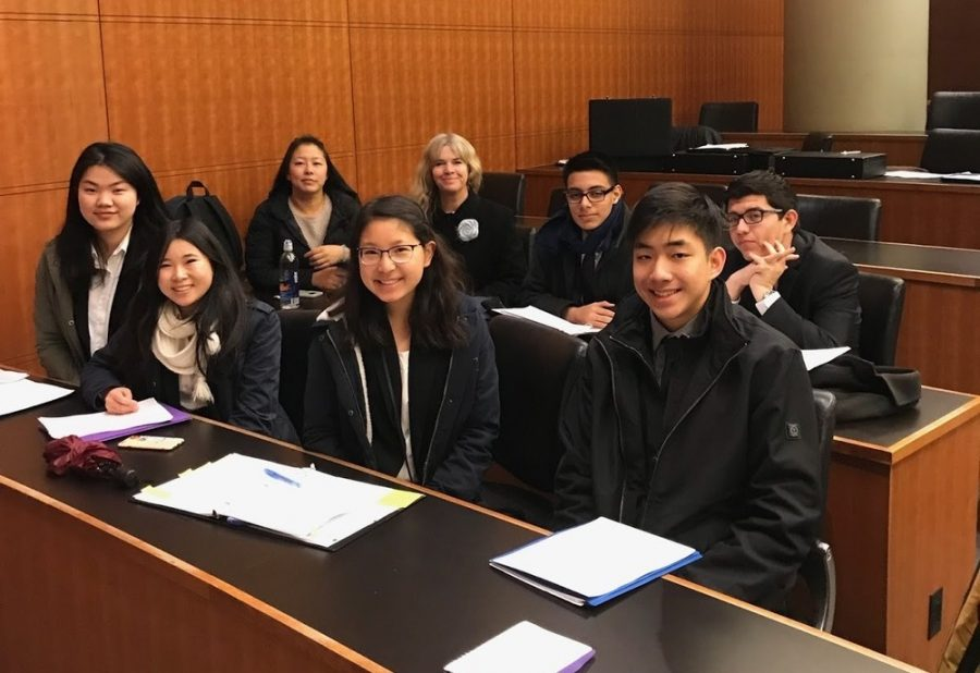 Six members of the DBHS team participated in the National Moot Court Competition at Duke University in late March after three months of preparation.