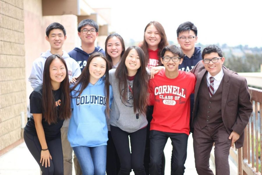 Clockwise from top left, graduating DBHS seniors Matthew Ho, Brian Chang, Jade Chen, Emily Jacobsson, Joshua Yan, Pablo Martinez, Derek Su, Amy Xia, Hailey Shi and Ashley To will be heading off to Ivy League schools in the fall.