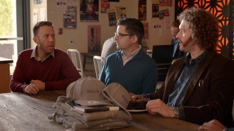 "Alumni Arthur O'Daly (left) plays Charles in ""Silicon Valley,"" on HBO."