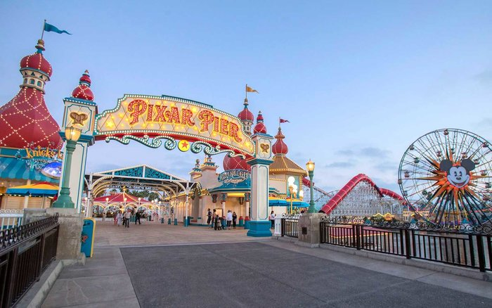A Peek At Pixar Pier