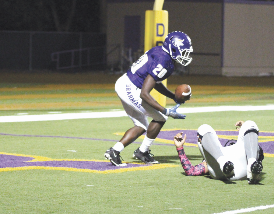 Chukwudobe scored two rushing touchdowns and returned a kickoff last Friday.