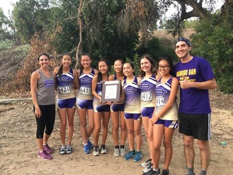 The varsity girls placed first at Bonelli Park in the Mt. Baldy league finals