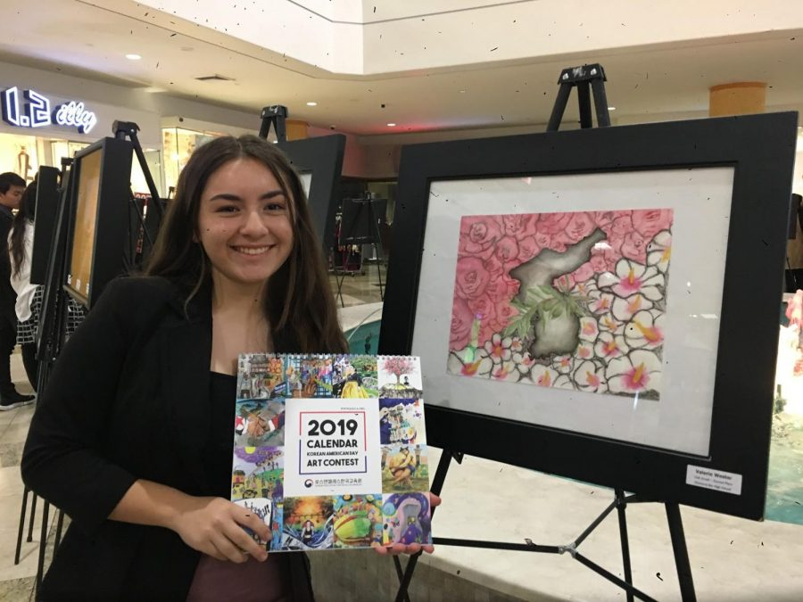 Junior Valerie Wester won $50 in the 2018 Korean American Day Art Contest.