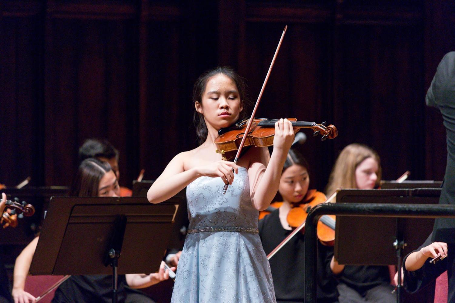 Junior Emily Yang was the concertmaster last year for the All-Southern California Honor Symphony Orchestra.