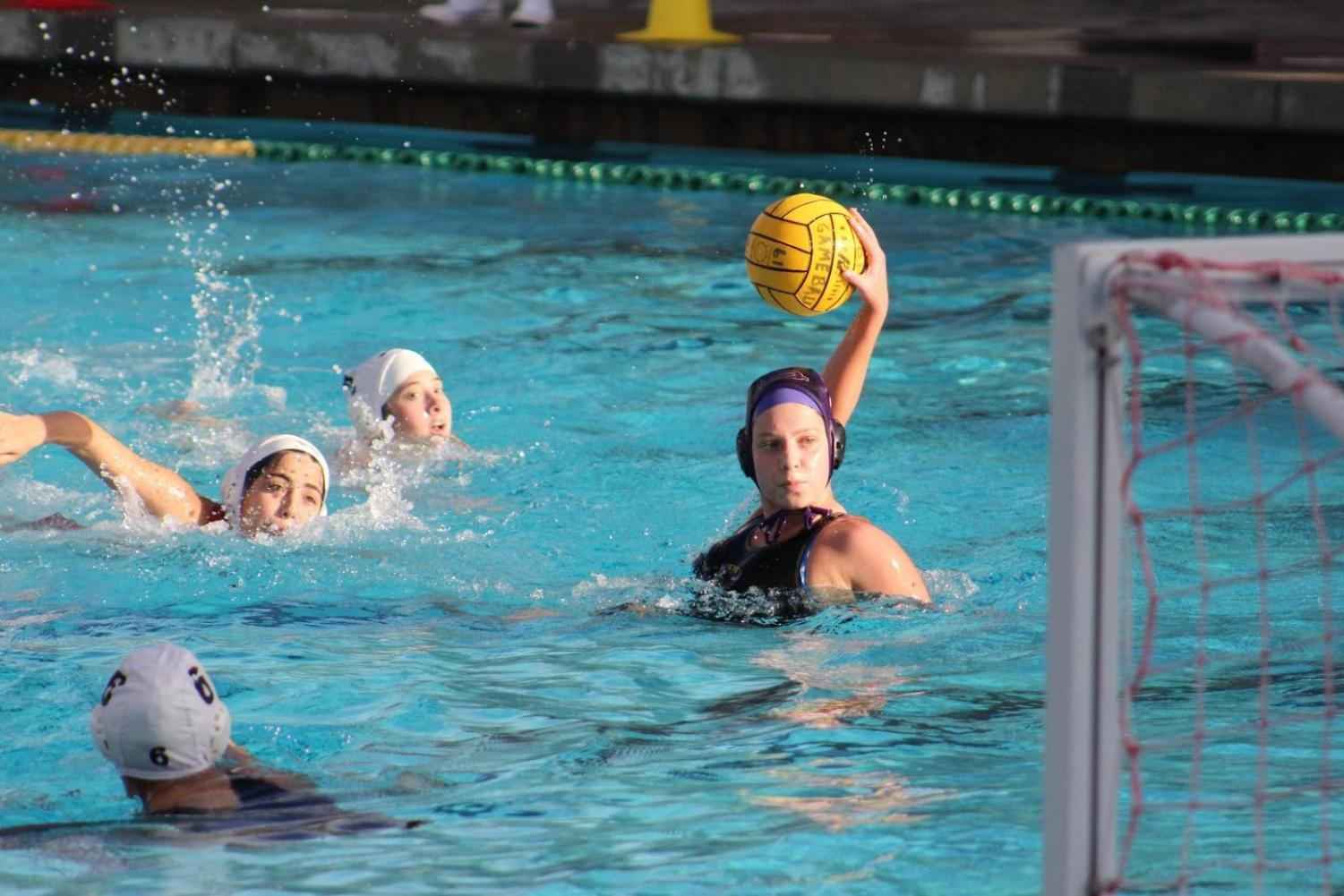 Senior Kristina Mariani goes one on one with the goalie after getting free from Chaffey's defenders in the close contest.