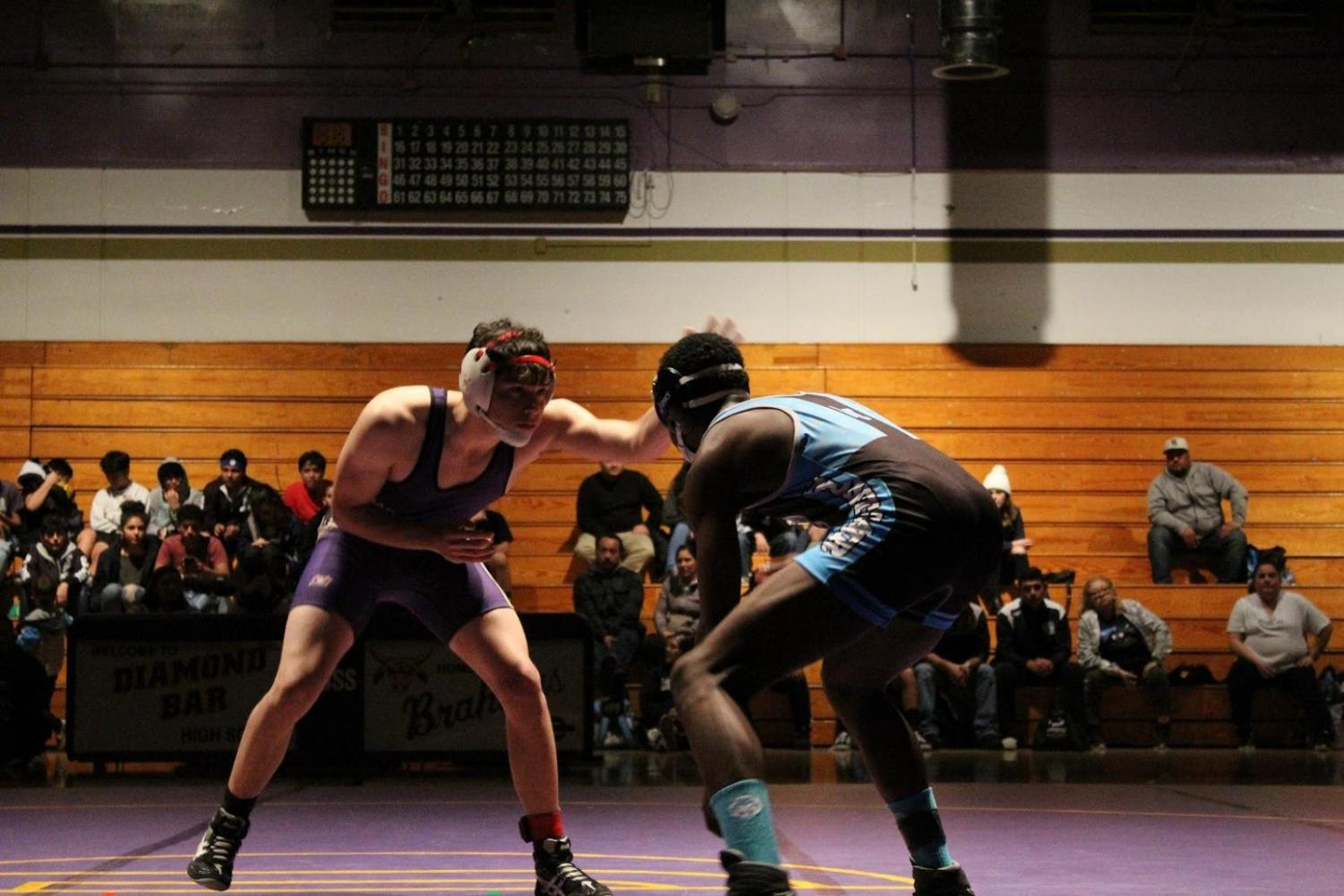 Senior Christopher Perez won his 152 weight class match against Montclair.