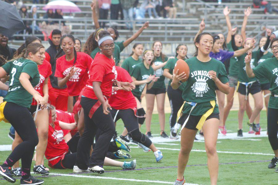 The last Powderpuff game at DBHS was held in April of 2016.