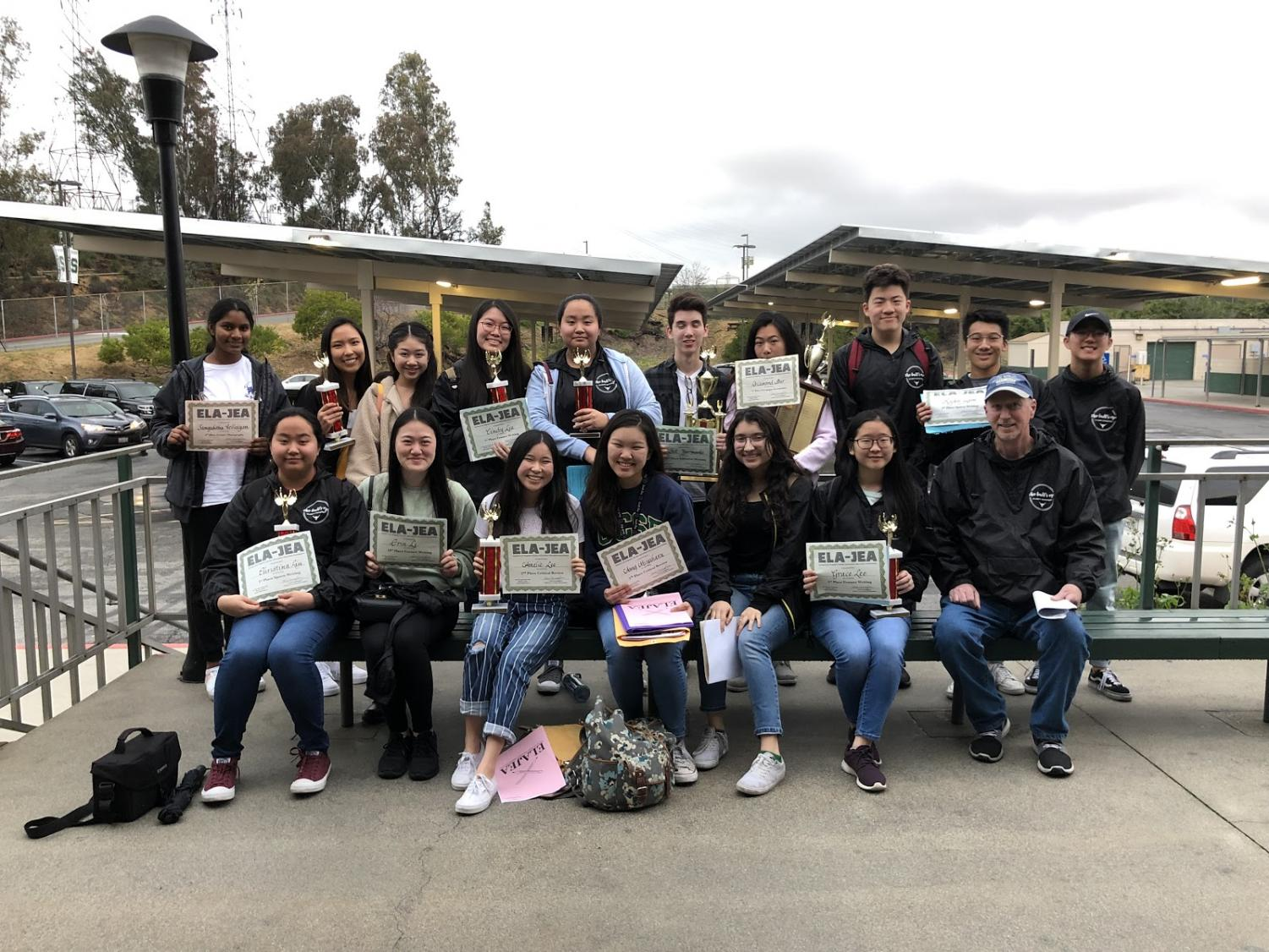 The DBHS Bull's Eye won first place newspaper sweepstakes at regionals.