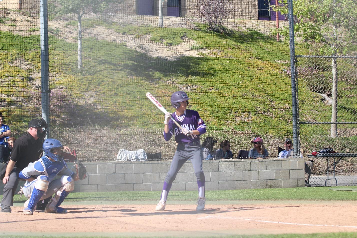 Senior Lachlan Durlach is maintaining a batting average of .350 for the season and plays the outfield for the Brahmas.